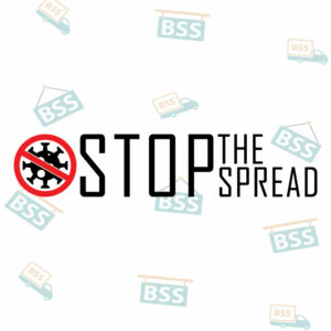 Stop-the-spread-Covid-19-Sign-black