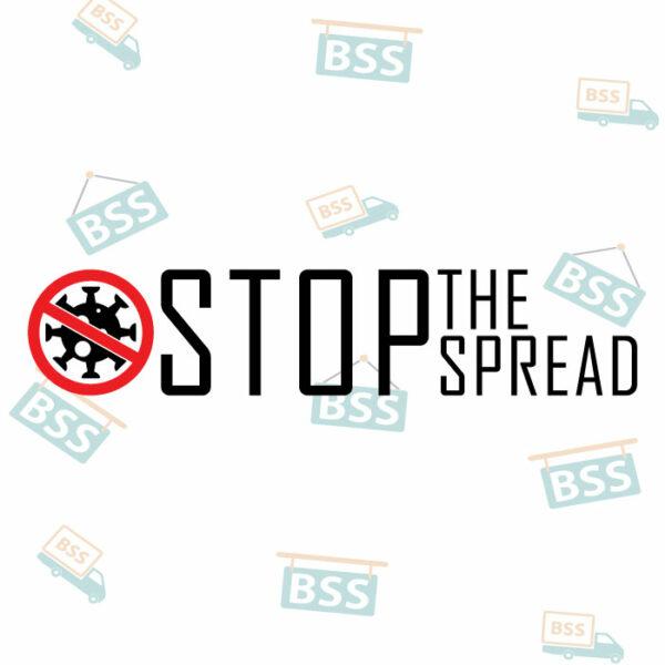 Stop-the-spread-Covid-19-Sign-black